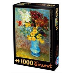 Puzzle 1000 Vincent Van Gogh - Flowers in blue vase D TOYS