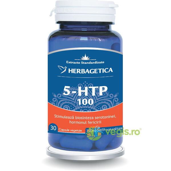 5-Htp 100 30Cps HERBAGETICA