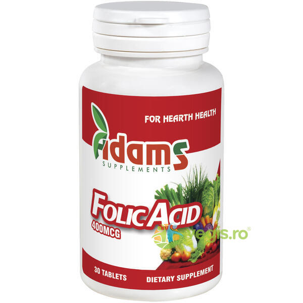 Acid Folic 400mcg 30tb ADAMS VISION