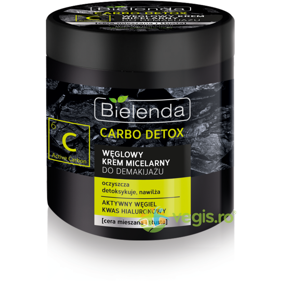 CARBO DETOX Crema Micelara Demachianta cu Carbune 250ml