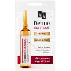 DERMO ESTETIQUE Peeling si Ser Masca Express Smoothing 5ml+5ml AA COSMETICS