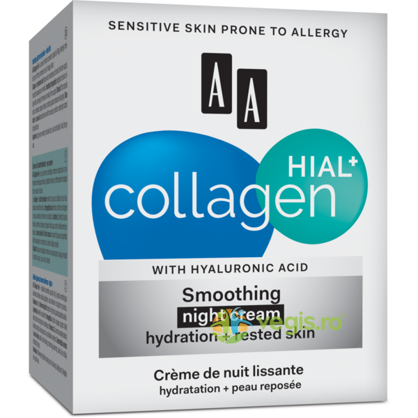 COLLAGEN HIAL+   Crema Calmanta de Noapte (30+) 50ml AA COSMETICS