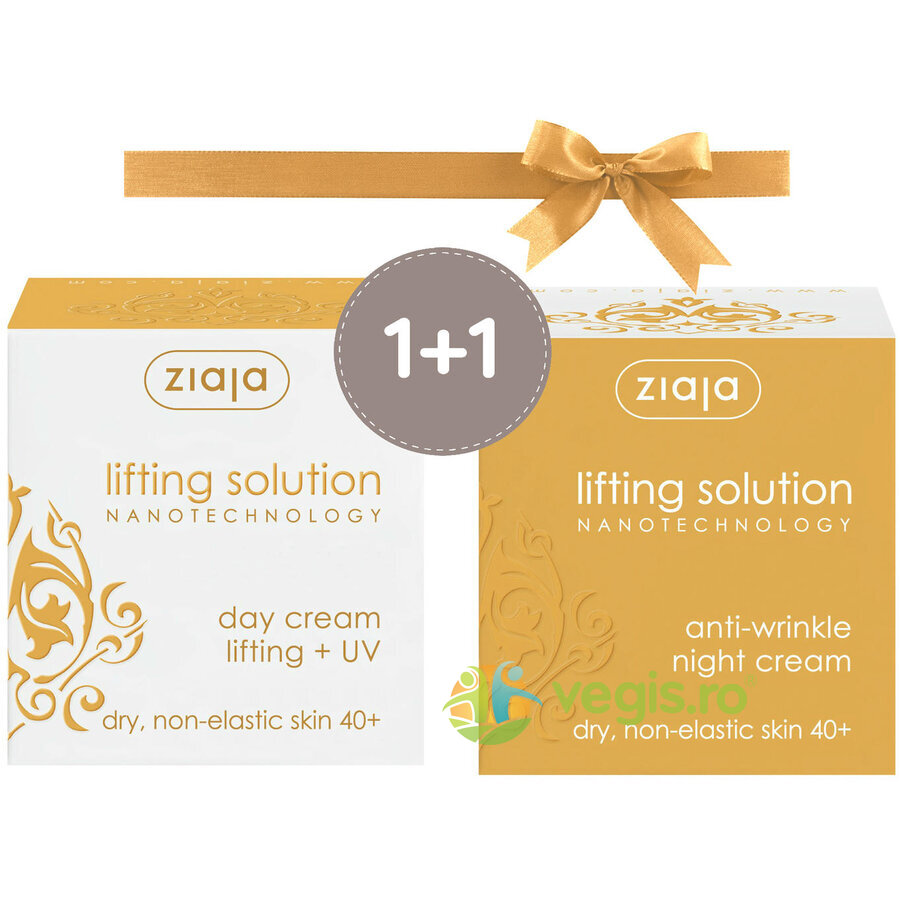 ZIAJA Pachet 1+1 Lifting Solution (40+): Crema De Zi Lifting SPF 10 50ml + Crema De Noapte Antirid 50ml