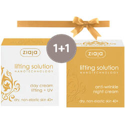 Pachet 1+1 Lifting Solution (40+): Crema De Zi Lifting SPF 10 50ml + Crema De Noapte Antirid 50ml ZIAJA