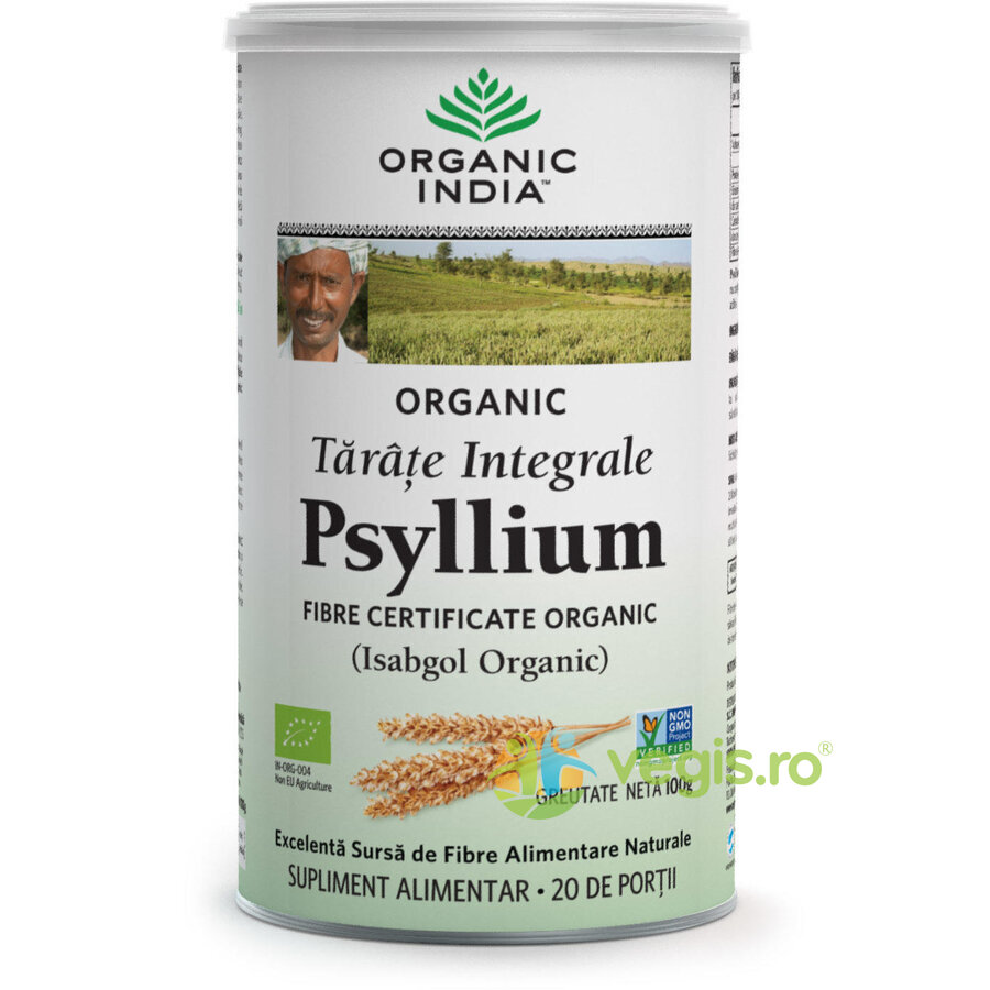 ORGANIC INDIA Tarate de Psyllium Integrale Eco/Bio 100g