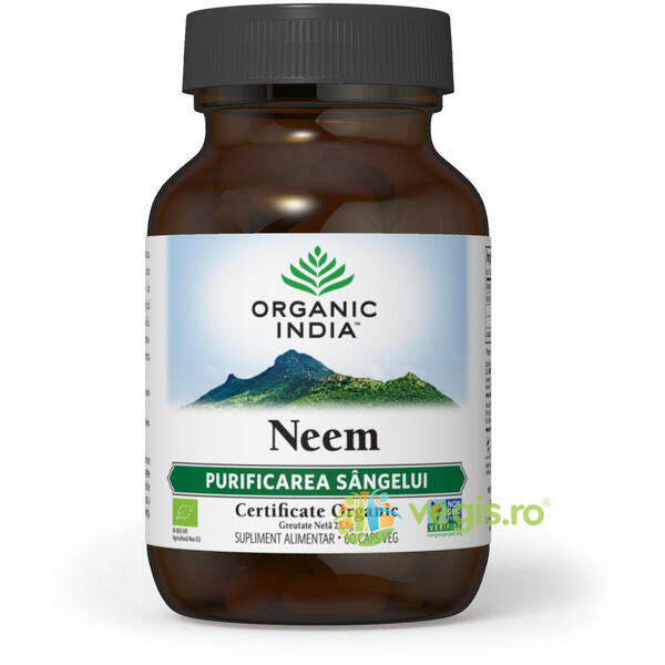 Neem Antibiotic Natural Eco/Bio 60cps veg ORGANIC INDIA