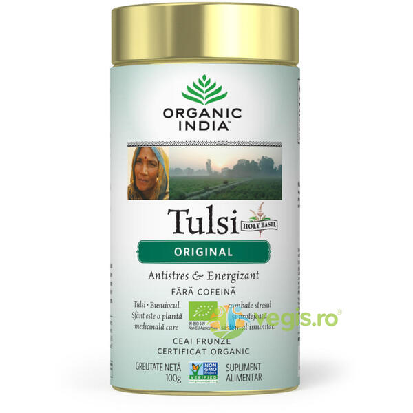 Ceai Tulsi Original Eco/Bio 100g ORGANIC INDIA