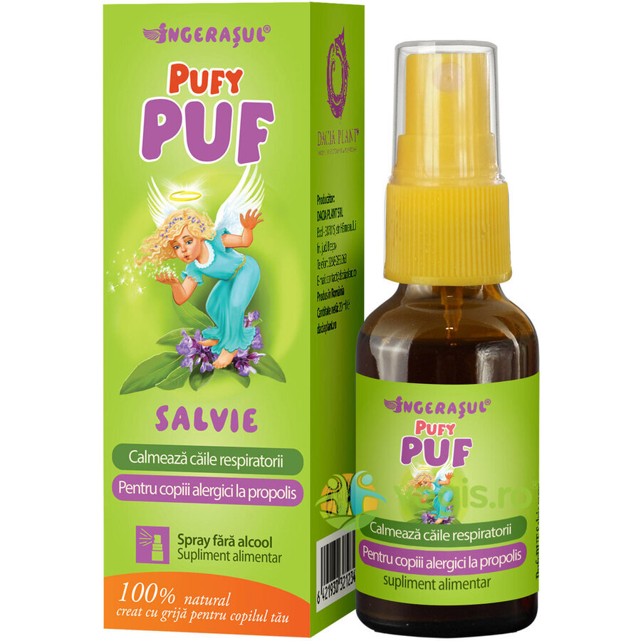 Pufy Puf Ingerasul - Salvie Spray Fara Alcool 20ml thumbnail