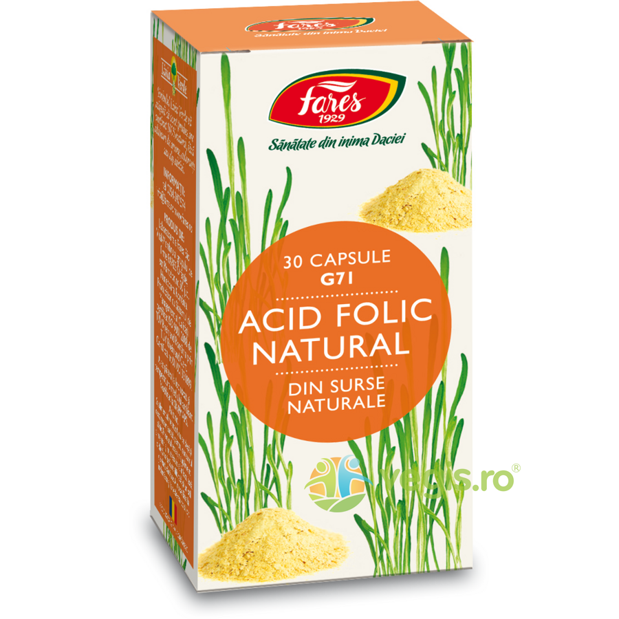 Acid Folic Natural (G71) 30cps imagine produs 2021