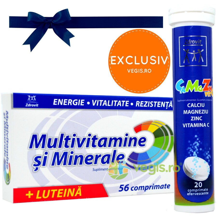 Multivitamine si Minerale 56cpr + Ca+Mg+Zn+Vit C Efervescent 20cpr thumbnail