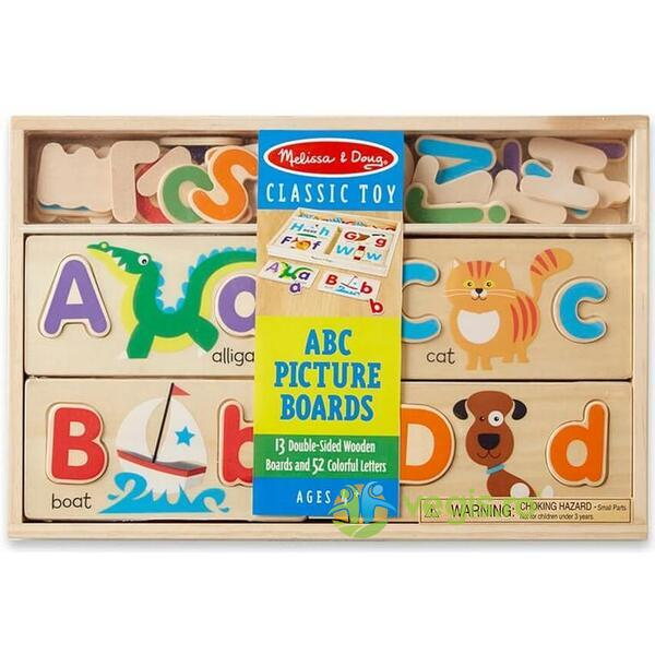 ABC Picture boards. Set pentru invatarea literelor MELISSA AND DOUG