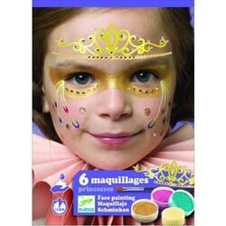 6 Maquillages, Princesses. Atelier creativ pictura pe fata, Printese DJECO