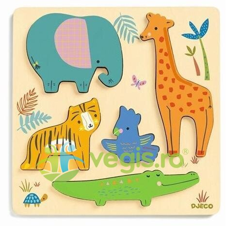 puzzle woodyjungle, animale in relief