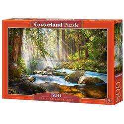 Puzzle 500. Forest Stream of Light CASTORLAND
