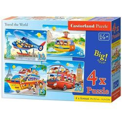 Puzzle 4 In 1. Travel the World CASTORLAND