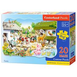 Puzzle 20 Maxi. Farm CASTORLAND