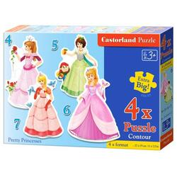 Puzzle 4 In 1. Pretty Princesses CASTORLAND