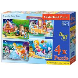 Puzzle 4 In 1. Beautiful Fairy Tales CASTORLAND