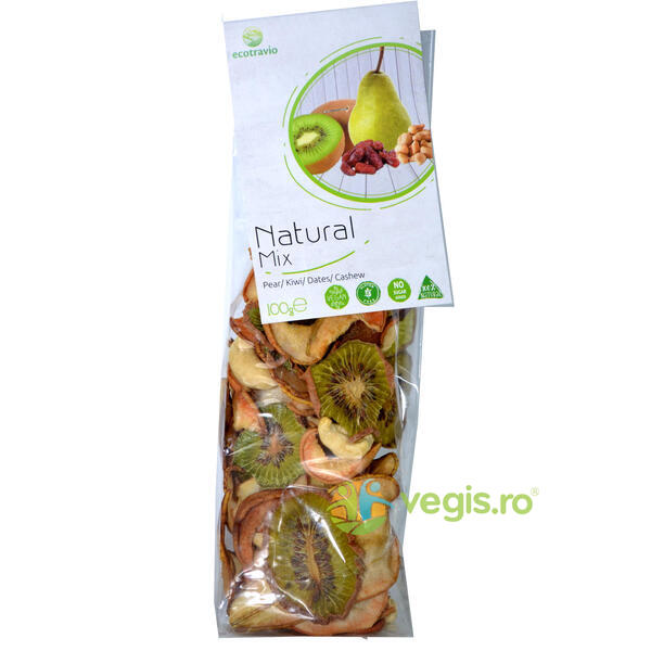 Mix Natural Pere, Kiwi, Caju si Curmale 100g ECO TRAVIO