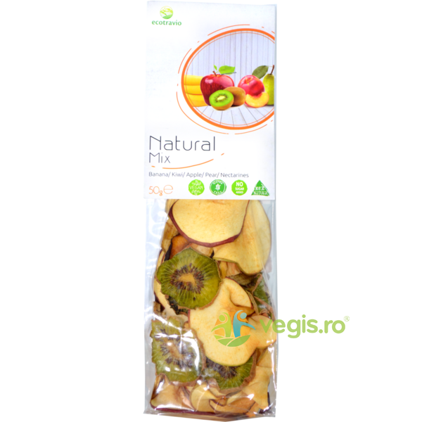 Mix Natural Banane, Kiwi, Nectarine si Pere 50g ECO TRAVIO