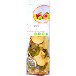 Mix Natural Banane, Kiwi, Nectarine, Mere si Pere 50g ECO TRAVIO