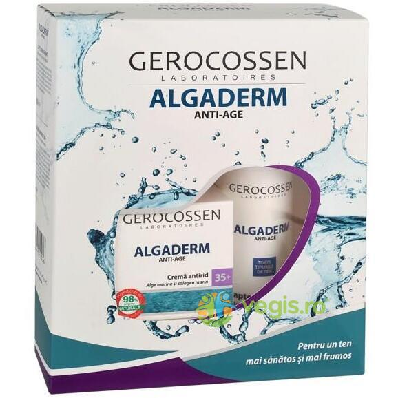 Algaderm Set Cadou Crema Antirid 35+ 50ml + Lapte Demachiant 200ml GEROCOSSEN