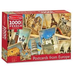 Puzzle 1000, Postcards from Europe. Vederi din Europa MELISSA AND DOUG