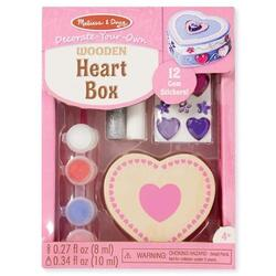 Heart box. Cutie de decorat din lemn: Inimioara MELISSA AND DOUG