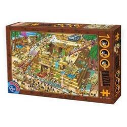Puzzle 1000 Cartoon Collection - Distractie la piramide D TOYS
