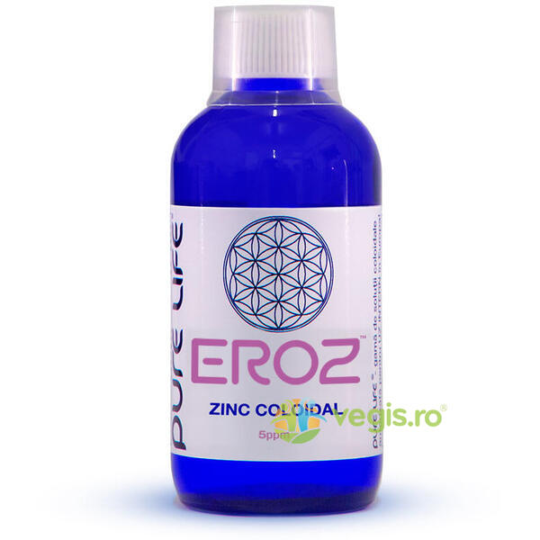 Zinc coloidal M+ EROZ 5ppm 240ml PURE LIFE