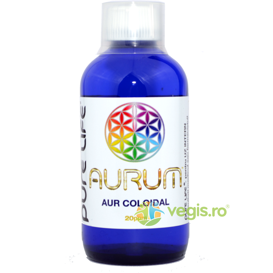 PURE LIFE Aur coloidal M+ AURUM 20ppm 240ml