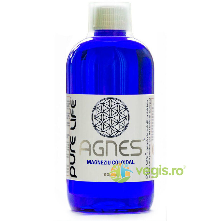 PURE LIFE Magneziu coloidal M+ AGNES 50ppm 480ml