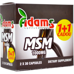 MSM 1000mg 30cps Pachet 1+1 CADOU ADAMS VISION