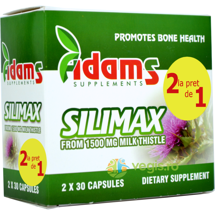 ADAMS VISION Silimax 1500mg 30cps Pachet 1+1 CADOU