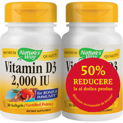 Vitamina D3 2000ui (Adulti) 30cps 1+1-50% Gratis NATURE'S  WAY