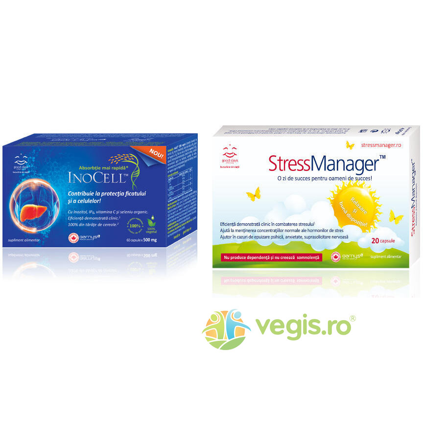 pachet activ plus stress inocell 60cpr + stressmanager 20cps