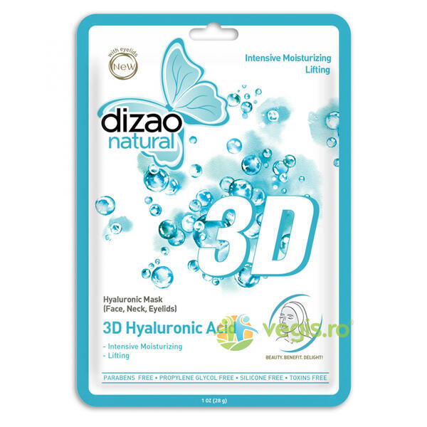 Masca cu Acid Hialuronic 3D 28g DIZAO NATURAL