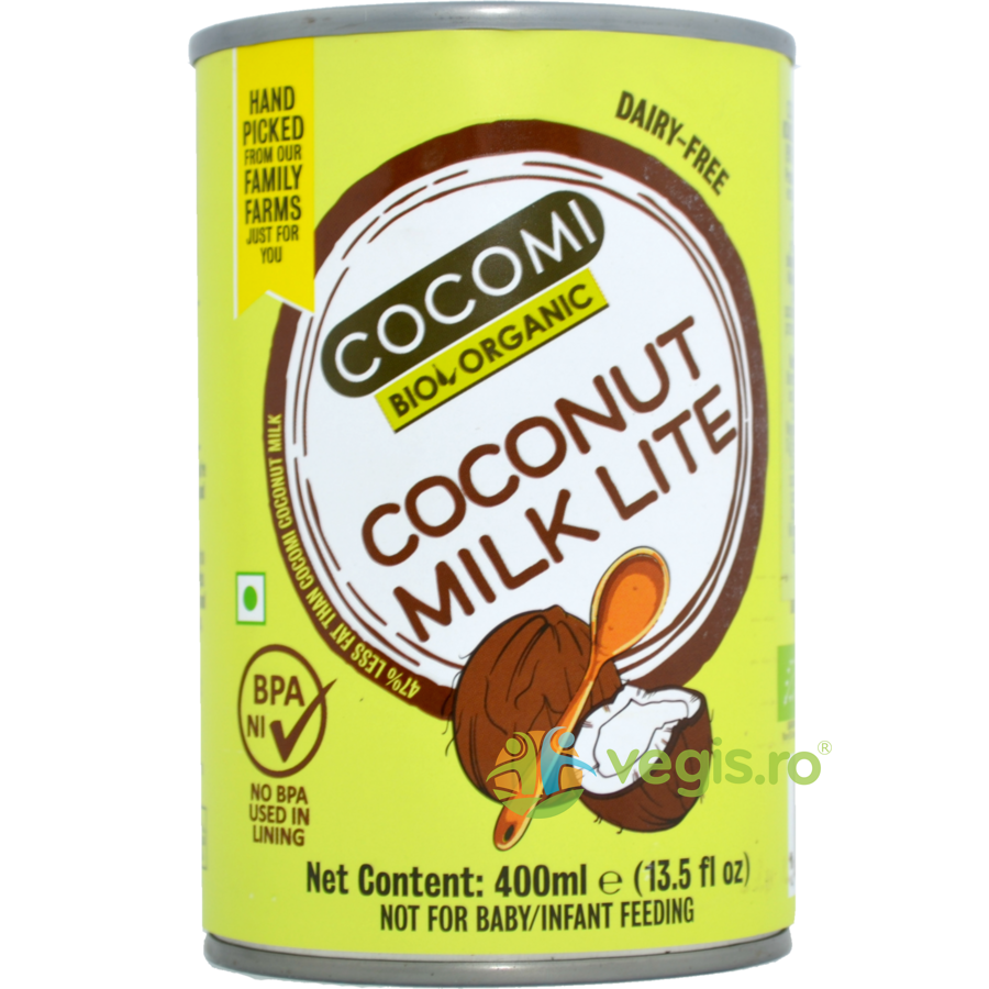Lapte de Cocos Light 9% Grasime Ecologic/Bio 400ml imagine