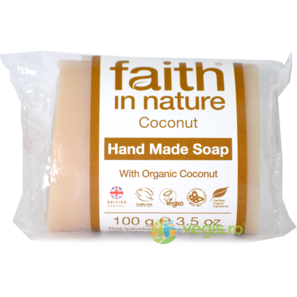 Sapun Natural cu Cocos 100g FAITH IN NATURE