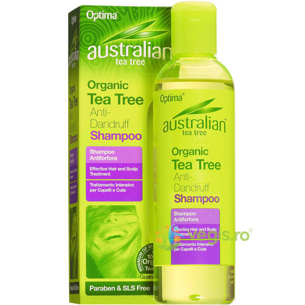 Sampon Antimatreata Cu Ulei Din Arbore De Ceai (Tea Tree) 250ml OPTIMA