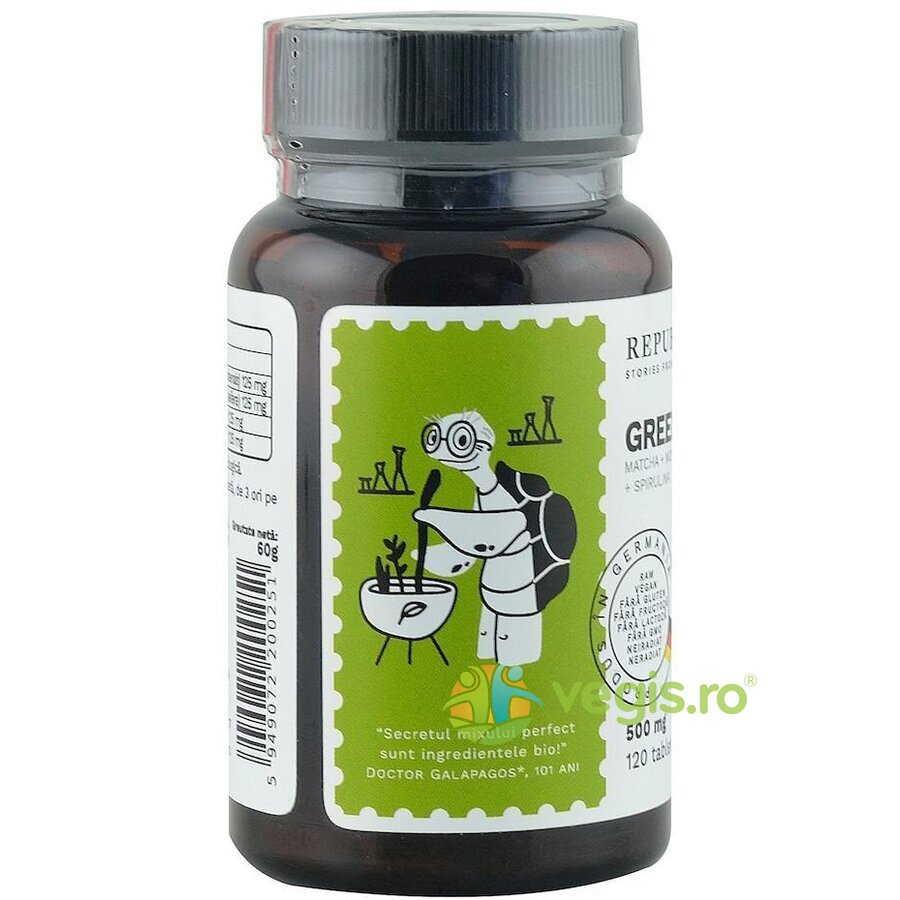 Green Detox Ecologic/Bio 500mg 120 tablete imagine