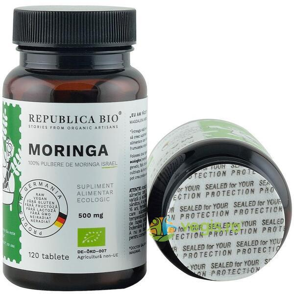 Moringa Ecologica/Bio 500mg 120 tablete REPUBLICA BIO