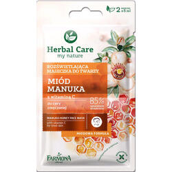 Herbal Care Masca Iluminatoare Cu Miere De Manuka Si Vitamina C 2x5ml