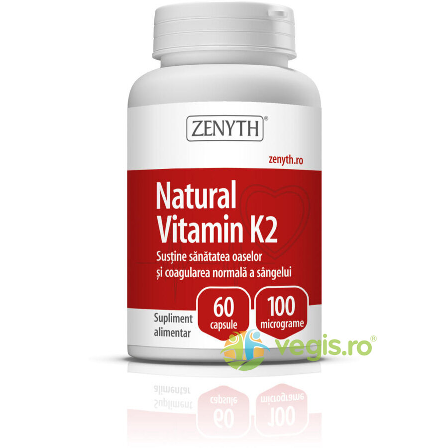 ZENYTH PHARMA Vitamina K2 Naturala 100mg 60cps