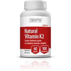 Vitamina K2 Naturala 100mg 60cps ZENYTH PHARMA