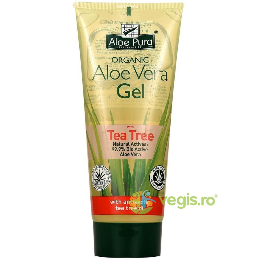 OPTIMA Gel Cu Aloe Vera Si Ulei Din Arbore De Ceai (Tea Tree) 200ml