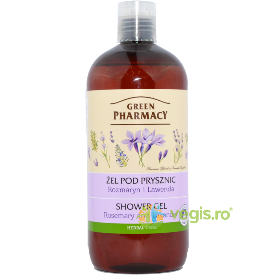 GREEN PHARMACY Gel de Dus cu Rozmarin si Lavanda 500ml
