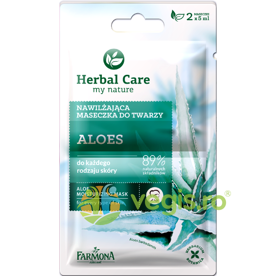 Herbal Care Masca Hidratanta Cu Aloe 2x5ml