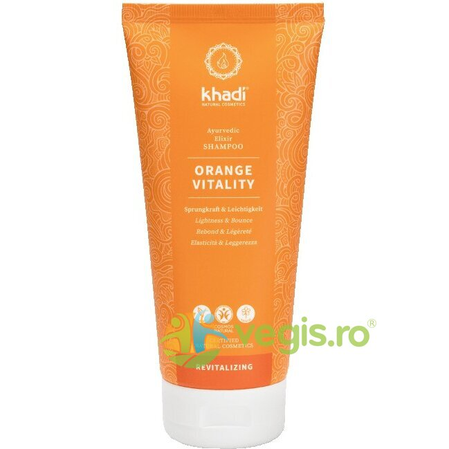 KHADI Sampon Ayurvedic Revitalizant Orange Vitality 200ml