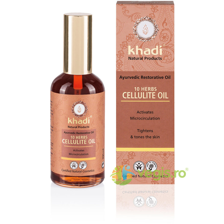 KHADI Ulei Anticelulitic 10 Plante 100ml